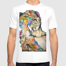 Overwhelmed Mens Fitted Tee White SMALL