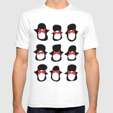 Penguins SMALL Mens Fitted Tee White