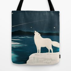 The White Wolf Is Calling Tote Bag
