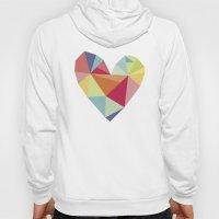 Geometric heart print Hoody
