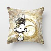 Swirl Girl Throw Pillow