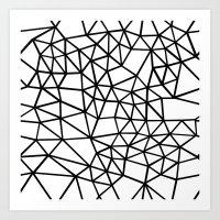 Segment Dense Black On W… Art Print