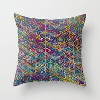 Cuben Network 1 Throw Pillow