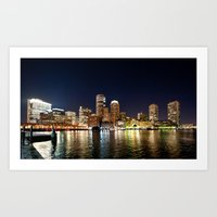 boston Art Prints featuring Boston by Bust it Away Photography