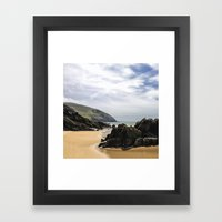 Peaceful Sand And Ocean Framed Art Print