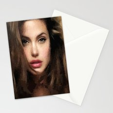 Angelina Jolie Hair Stationery Cards