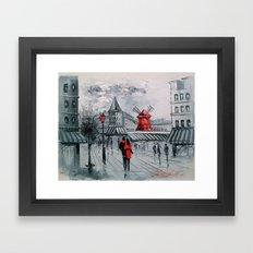 Romance In Paris Framed Art Print
