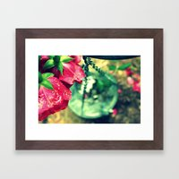 Rose and Chain Framed Art Print
