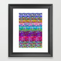 Glitch 001 Framed Art Print