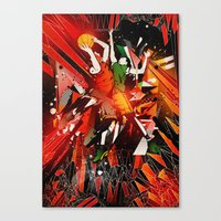 All Start Game Chaos Canvas Print