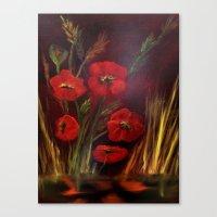 Poppy Power Canvas Print