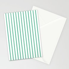 Vertical Lines (Mint/White) Stationery Cards