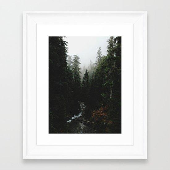 Rainier Creek Framed Art Print