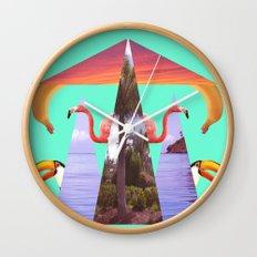 Off Shore Firework Show Wall Clock