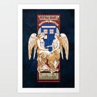 Angel Nouveau Art Print