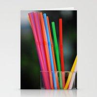 Straws Stationery Cards