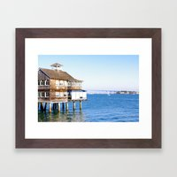 House on Stilts Framed Art Print
