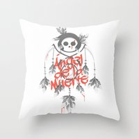 Angel de la Muerte - RED Throw Pillow