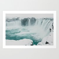 Goðafoss | Edge Of The … Art Print