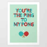 Love is like ping pong Art Print