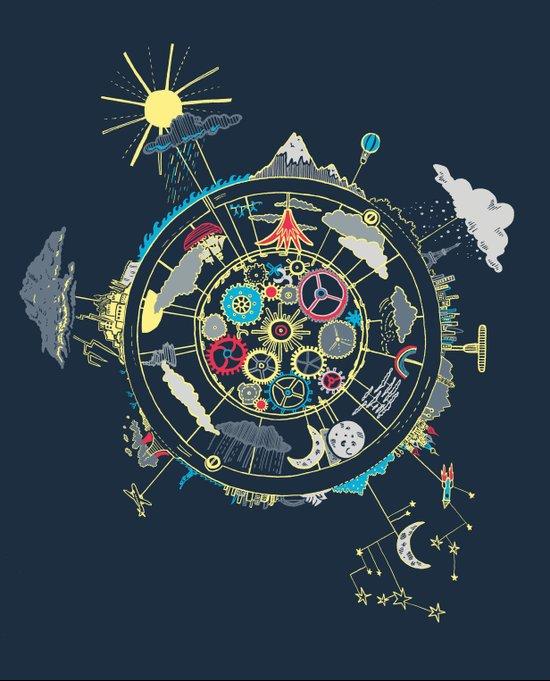 Running Like Clockworld Art Print