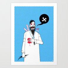 Rasputins Last Gasp Art Print