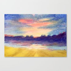 Sky-Blue Pink Canvas Print