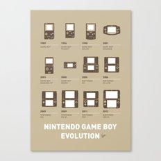My Evolution Nintendo game boy minimal poster Canvas Print
