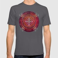 Root Chakra Mens Fitted Tee Asphalt SMALL