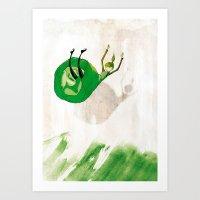 Lettuce Woman Art Print