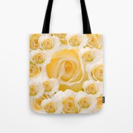 Creamy Peach Rose Abstra… Tote Bag