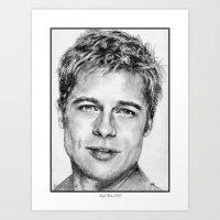 Brad Pitt In 2006 Art Print