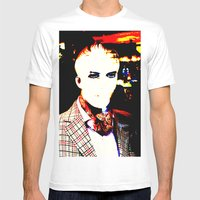Lugosi Hits Town Mens Fitted Tee White SMALL