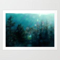 Forest-Blue Art Print
