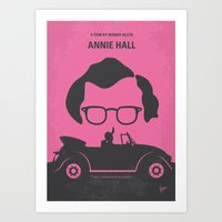 No147 My Annie Hall minimal movie poster Art Print