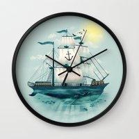 The Whaleship Wall Clock