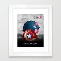 Berto: The Mental-issue pig as Captain America Framed Art Print