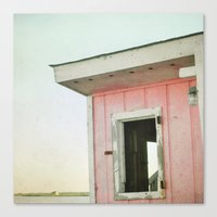 Little Pink Beach House Canvas Print