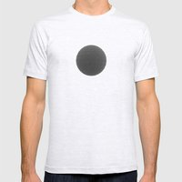 Black sphere Mens Fitted Tee Ash Grey SMALL