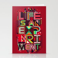 Life is an Experiment Stationery Cards