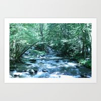 A Fork in the River (color) Art Print