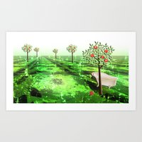 The bathtub in the orchard Art Print