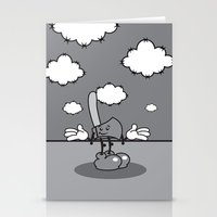 Mister hatchet's a little careless Stationery Cards