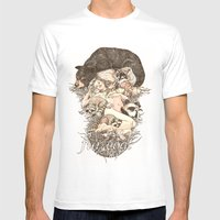 Fur Coat Mens Fitted Tee White SMALL