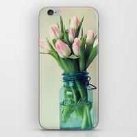 Mason Jar Spring Tulips iPhone & iPod Skin