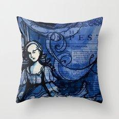 The Tempest - Miranda - Shakespeare Folio Illustration Throw Pillow