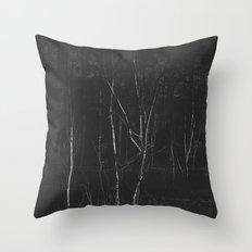 Dark Woodland Throw Pillow