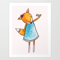 Little birdie Secret  Art Print