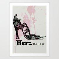 Herz Kakao Art Print