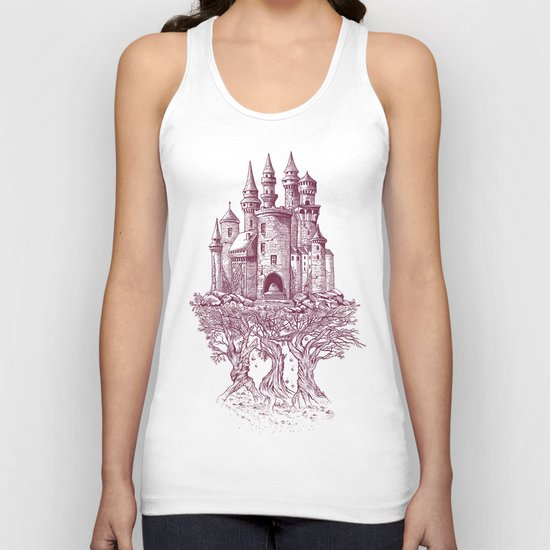 Castle in the Trees Unisex Tank Top